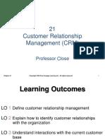 Chapter 21 Customer Relationship Management CRM