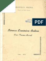 1973 - César Fonseca - Sistemas Económicos Andinos-final