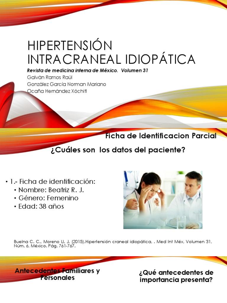 Hipertension craneal tratamiento de aguas