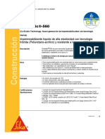 Impermeabilizante Hibrido Poliuretano Acrilico Sikalastic 560