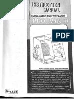 Acoma Pro Ventilator