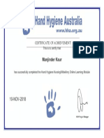 certificate hand hygiene