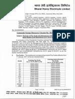 Pay Revision Circular of Executives w.e.f. 01.01.2017