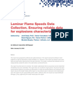 Laminar Flame Speeds Data Collection 2014