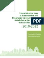 LINEAMIENTOS POA DF 2010-2012