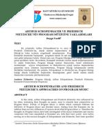 Schopenhauer ve Nietchzenin program müziğine yaklaşımları.pdf