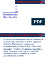 Crudq Operations, Association and Navigation Properties in Odata Service