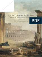Bowersock, From Gibbon to Auden. Essays on the Classical Tradition, OUP 2009