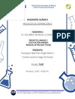 Destilacion Binaria Metodo Grafico y Metodo analitico