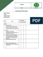 Checklist Inspeksi k3
