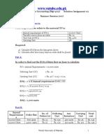 Cost & Management - MGT402 Summer 2007 Assignment 02 Solution