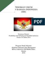 pedoman umum bahasa indonesia
