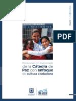 Orientaciones Para La Implementación de La Cátedra de Paz Con Enfoque de Cultura Ciudadana