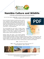 African Safaris Ltd - 20-Day Namibia Culture and Wildlife Tour