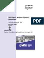 brochure for techno management