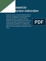 El comercio de recursos naturales