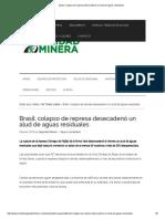 Brasil_ Colapso de Represa Desecadenó Un Alud de Aguas Residuales