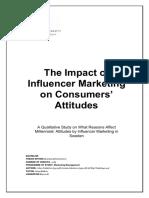 Impact of Influencer marketing to consumer behavior