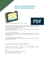 Cara Membaca Gps Dan Menghitung Koordinat Latitude Longitude