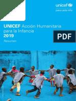 """Informe """"Acción humanitaria para la infancia 2019"""", de Unicef."""