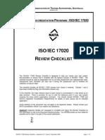 ISO-IEC 17020 Checklist