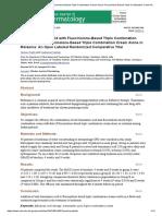 Oral Tranexamic Acid With Fluocinolone-Based Triple Combination Cream Versus Fluocinolone-Based Triple Combination Cream Alone in Melasma