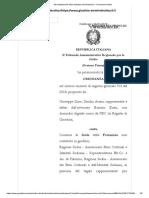 2019 26 GENNAIO  TAR PALERMO SIINO GIUSEPPE ARANA SANDRA ORDINANZA N. 00133 2019 REG.PROV.CAU N. 00703 2018 REG.RIC.  ISOLA DELLE FEMMINE