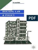 [Macmillan Law Masters] David Cowan (Auth.) - Housing Law and Policy (1999, Macmillan Education UK)