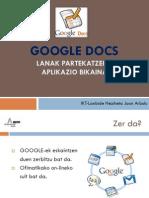 Google Docs Aurkezpena