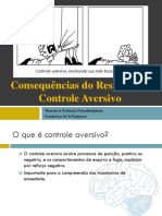 Consequências Do Responder - Controle Aversivo