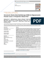 Stereotactic Abative Body Radiotherapy (SABR) for Oligometastatic Prostate Cancer- A Prospective Clinical Trial