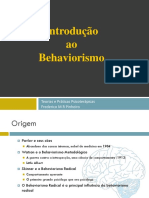 Introdução Ao Behavioriosmo