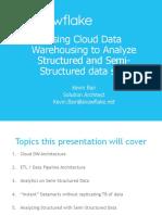 Data Masters - Datawarehousing in the Cloud
