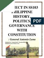 Project in Ss103 Philippine History Antonio Luna[1]