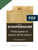 Philosophie Et Science de La Nature