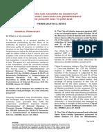 PM Reyes 2014 to 2018 Tax Jurisprudence QA