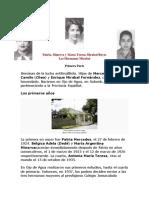 Patria, Minerva y María Teresa Mirabal Reyes
