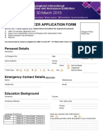 Lima19 Volunteer Application Form