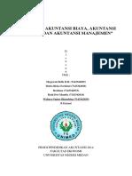 Hubungan Akuntansi Biaya, Akuntansi Keuangan & Akuntansi Manajemen