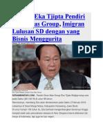5 Fakta Eka Tjipta Pendiri Sinar Mas Group