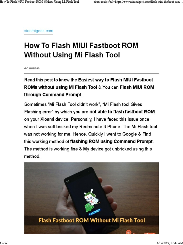 Fastboot Flash Rom