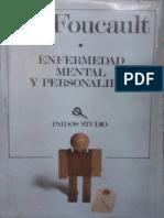 Enfermedad mental y personalidad [Michel Foucault].PDF