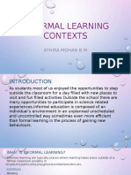 Informal Learning Contexts Ppt