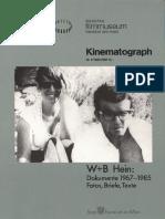 Hein, W. + B. - Dokumente 1967-1985. Fotos, Briefe, Texte