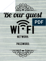 Wifi Notice 5x7 - Gray