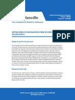 Instrucciones de instalación de fibra de vidrio
