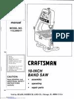 Craftsman 10 Band Saw 113.244513