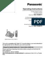 KXTG5671S Answering Machine Manual