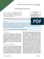Chia CY, Et Al. Clinical Anatomy of the Face. Clin Dermatol J 2017, 2(1)_ 000107