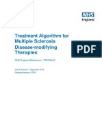 Treatment Algorithm for Multiple Sclerosis Disease Modifying Therapies
